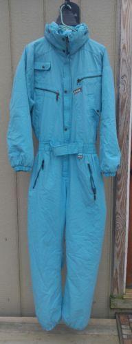 Womens Campri Downhill Light Blue One Piece Insulated Ski Snow Suit UK M