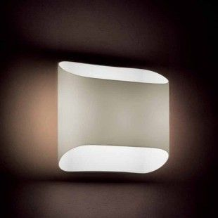 Wall lamp Abbey in grey designed by Riccardo Giovanetti for Aureliano Toso.