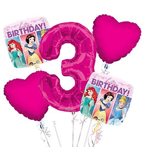 Princess Balloon Bouquet 3rd Birthday 5 pcs   Party Supplies. #Princess #Balloon #Bouquet #Birthday #Party #Supplies