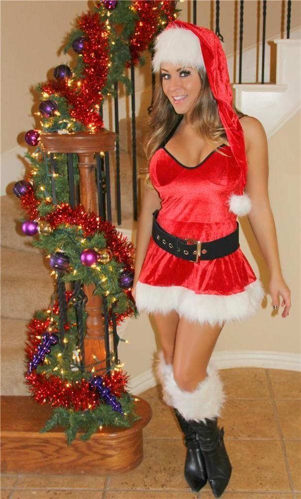 Red Velvet Mrs Claus Christmas Holiday Lingerie Dress North Pole Costume 7175 #GabriellesLingerie #Dress #Christmas