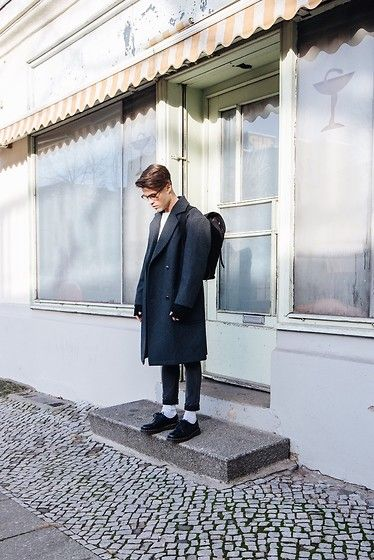 Kevin Elezaj - Dr. Martens Boots, Cheap Monday Jeans, Topman Coat, Sandqvist Bag, Cos Gloves, Asos Glasses - December 15th