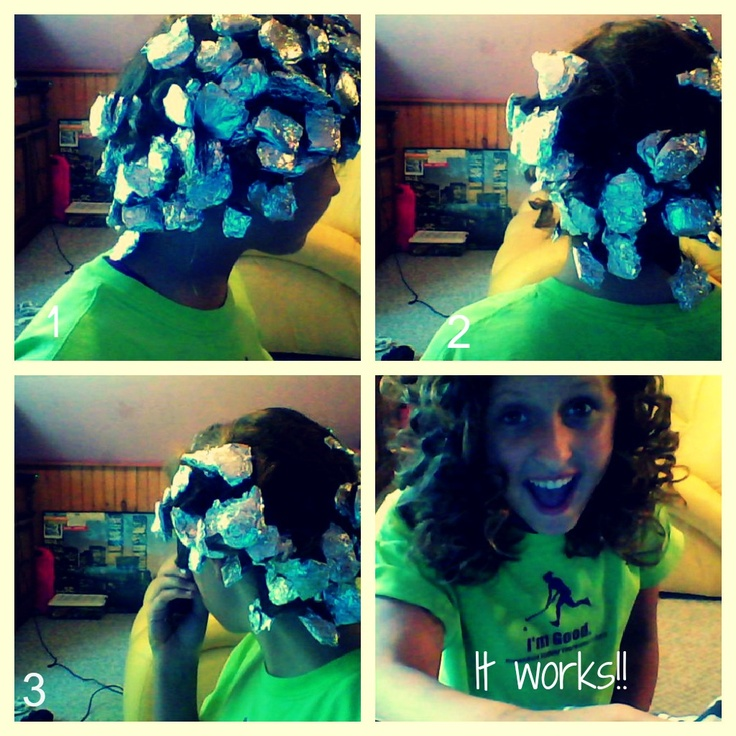 Take a piece of your hair, rap it around your finger, slide it of and rap it i tin foil do this till all your hair is in tin foil, then hold your straightner over the tin foil for a few seconds till tin foils hot, do this to the rest of your hair, then take out , and you have beautiful curls.<33