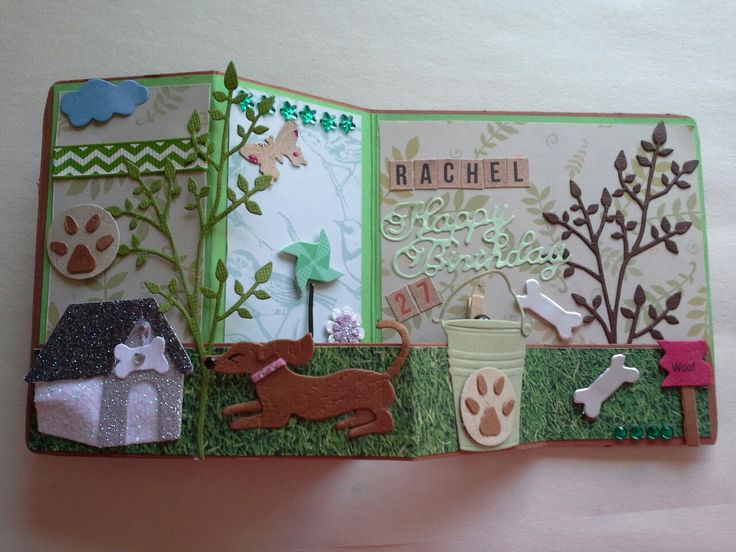 Z folded card. Birthday Card  Green tone Cardstocks. Embellishments, Die Cuts, Ribbon & Stamping.  Handmade by Mandy.S 2017