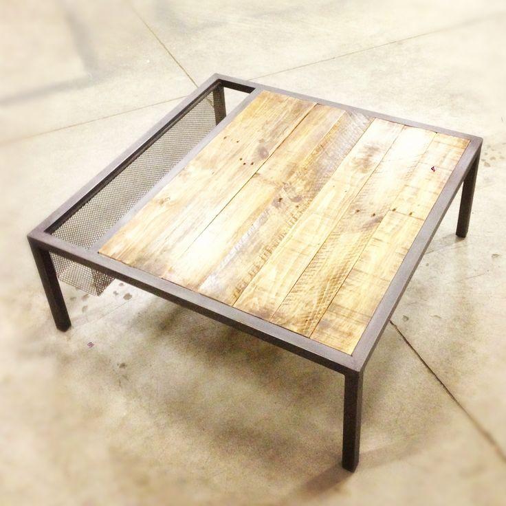 17 best ideas about meuble tv bois metal on pinterest - Table basse metal industriel ...