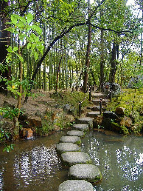 Jardins Tenjuan, Quioto, Japão.  Fotografia: Sharilyn Anderson.