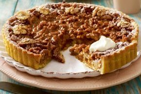 Das Rezept für Walnuss-Karamell-Tarte und weitere kostenlose Rezepte auf LECKER.de - http://www.lecker.de/rezept/3024991/Walnuss-Karamell-Tarte.html