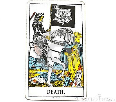 Death Tarot Card brings End of an era Changes Transformation Rebirth and new life