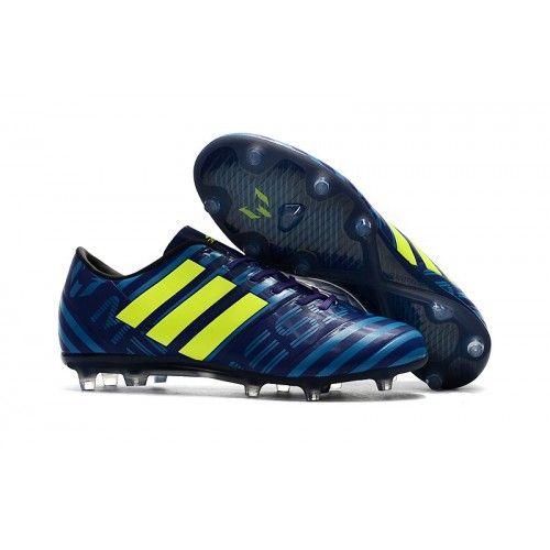 Adidas Messi Nemeziz 17.1 FG синий желтый Фиолетовый футбольные бутсы для игры на твердом грунте
