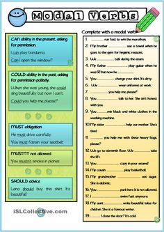 Modal Verbs Elementary Level