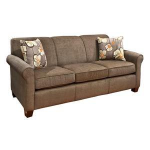 Traditional Brown Microfiber Sofa | Nebraska Furniture Mart $529.99, great review, 5 stars! RW LIKES