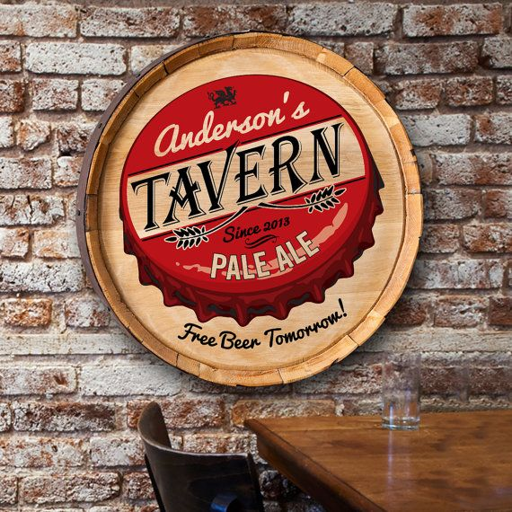 Custom Free Beer Tomorrow Brew Barrel Sign