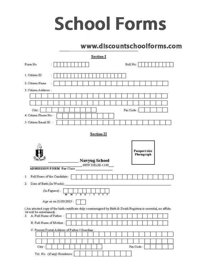 School Forms by DSchoolforms – Admission Forms of Schools