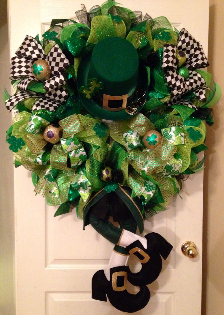 151 Best St Patricks Day Wreaths Images On Pinterest