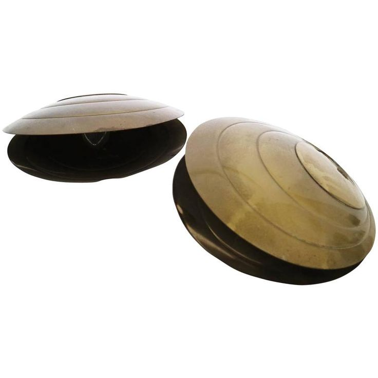 Pair of Brass Clam Shell Lamps.