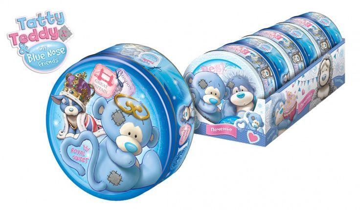 332=My Blue Nose Friends, Печенье в жестяной банке с сюрпризом 2/6, 240г., Конфитрейд оптом и в розницу недорого