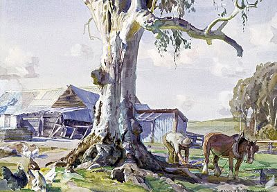 Hans Heysen Watercolour