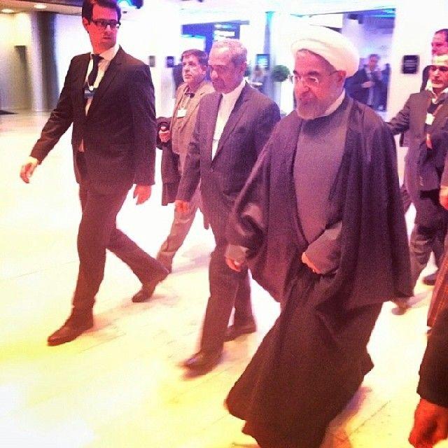 #davos #wef #wef2014 #iran #president