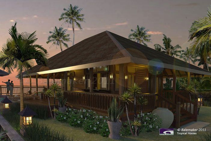 Medewi Gado Nr Tropical House Design Pod House House Plans