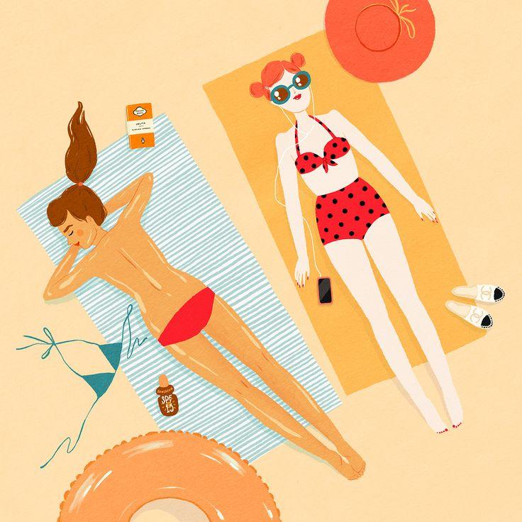 Summer Lovin', Kris Atomic illustration
