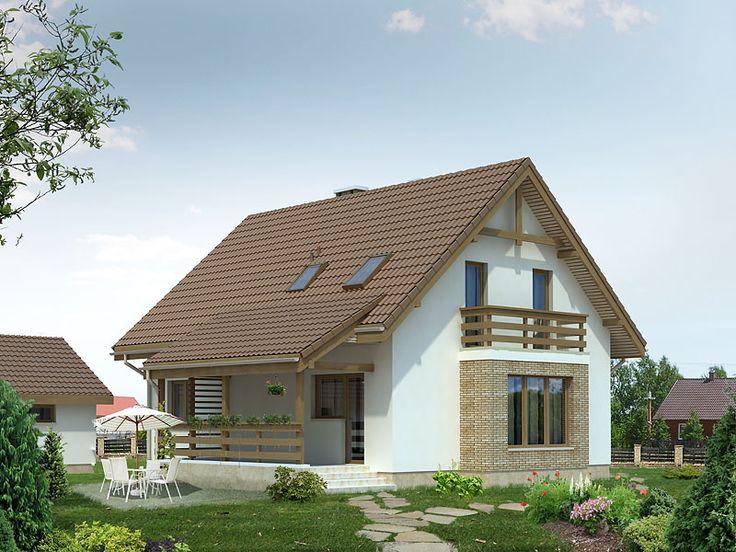 Projekt domu z użytkowym poddaszem Aloes (136,2 m2). Pełna prezentacja projektu dostępna jest na stronie: https://www.domywstylu.pl/projekt-domu-aloes.php.  #dudek #projekty #projekt #gotowe #typowe #domy #domywstylu #mtmstyl #home #houses #architektura #interiors #insides #wnętrza #aranżacje