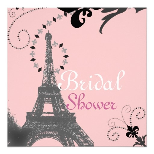 21 best paris themed bridal shower invitations images on pinterest french eiffel tower vintage paris bridal shower card filmwisefo