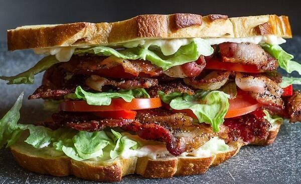 Bacon Lettuce Tomato Sandwich   Delicious Food - Exquisite Eat / Comi ...