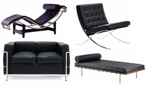 Le Corbusier Furniture | Barcelona Chair, Le Corbusier, Chaise Lounge - Silver Overseas Limited