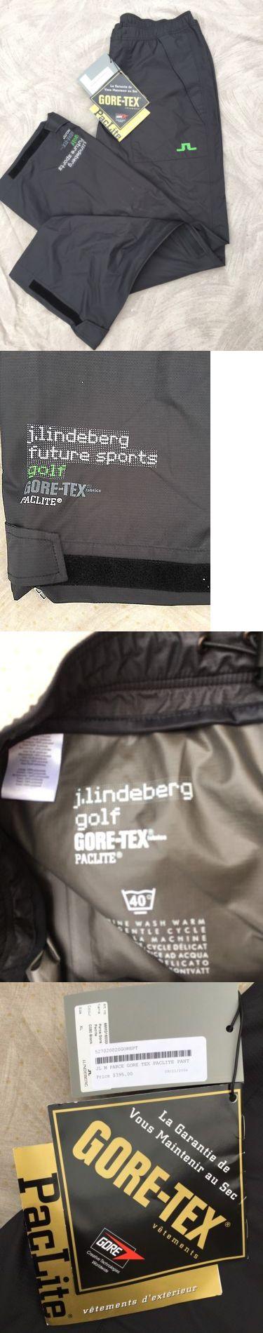 Pants 181137: J Lindeberg Gore-Tex Paclite Waterproof Breathable Golf Pants Black Xl -> BUY IT NOW ONLY: $198 on eBay!