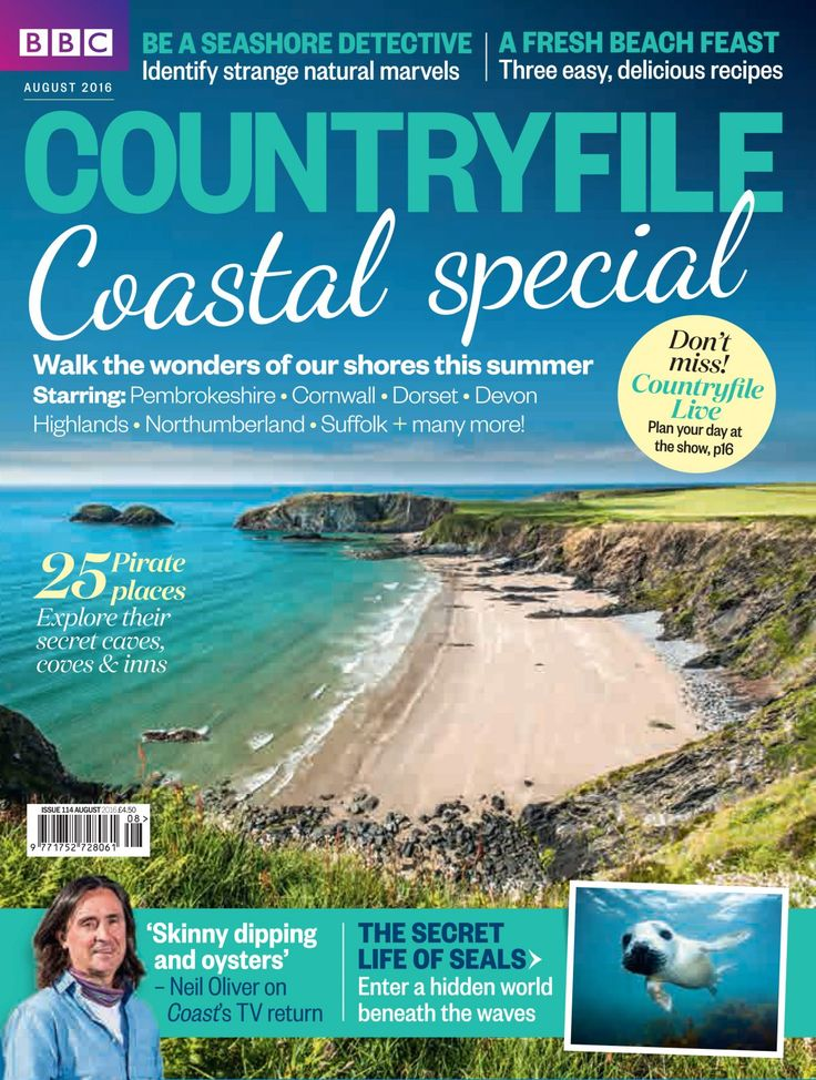Coastal Special! Walk the wonders of our shores this summer, starring Pembrokeshire, Cornwall, Dorset, Devon, Highlands, Northumberland, Suffolk and many more!  Be a seashore detective - identify strange natural marvels; A fresh beach feast - three easy, delicious recipes; The secret life of seals - enter a hidden world beneath the waves; 25 Pirate places - explore their secret caves, coves and inns  'Skinny dipping and oysters' - Neil Oliver on Coasts TV return  Plus 60 pages of ideas...