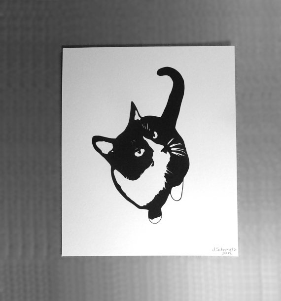 Cat Feline Art  Paper Cutting Papercutting Paper by VibrantShadows, $48.00