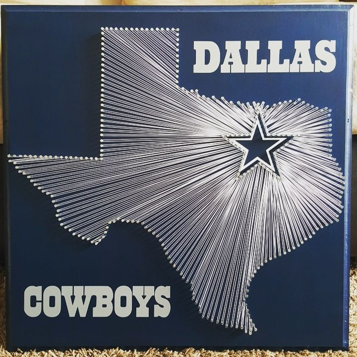 "20"" x 20"" Dallas Cowboys string art                                                                                                                                                                                 More"