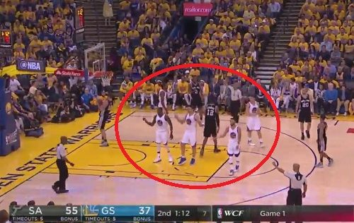 Warriors Players Synchronize In Their Complaining Of A Call