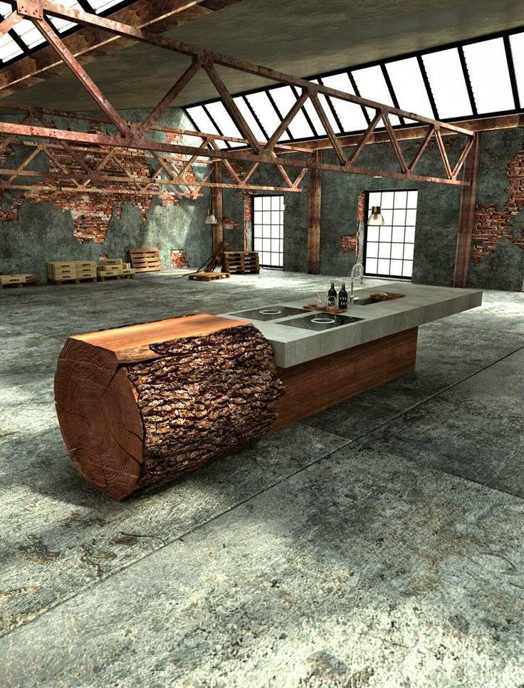 Oak Concrete Kitchen by Werkhaus …