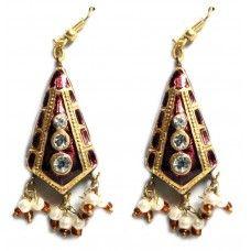 Purple Ethnic Bollywood Earrings