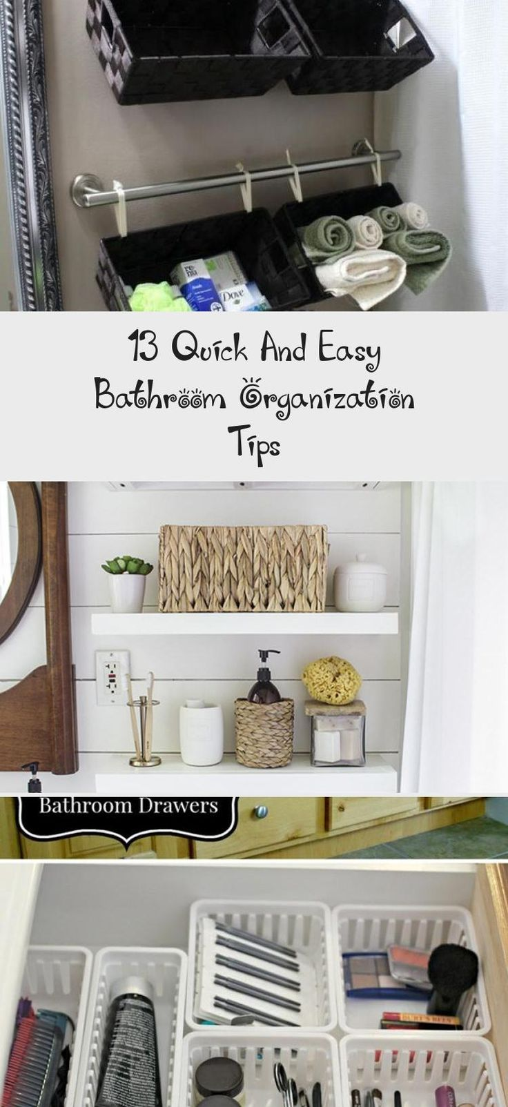 13 Quick And Easy Bathroom Organization Tips   – Bathroom Ideas