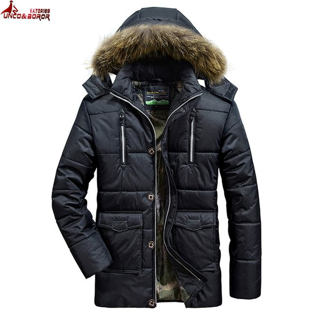 Fair price UNCO&BOROR thick warm Winter jacket men outwear waterproof Detachable Cap with Fur Hood cotton down parka men coats size L~4XL just only $39.95 - 45.98 with free shipping worldwide  #jacketscoatsformen Plese click on picture to see our special price for you