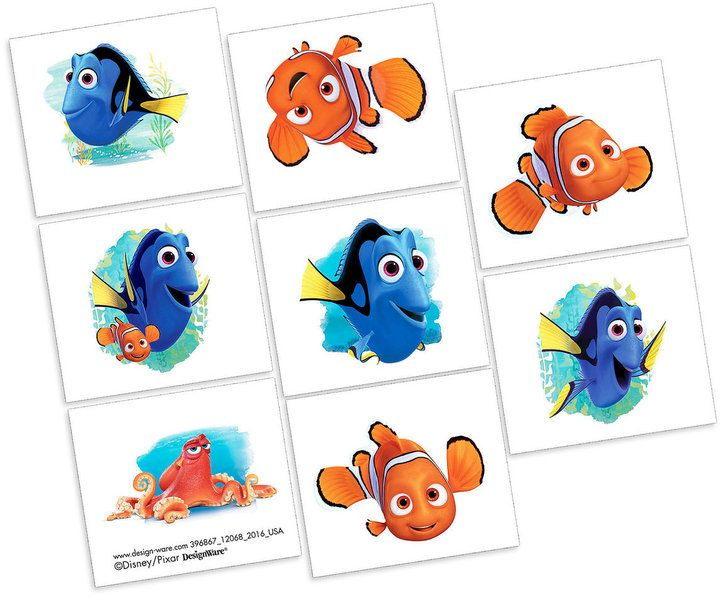 Finding Dory Tattoos - 2 Pack
