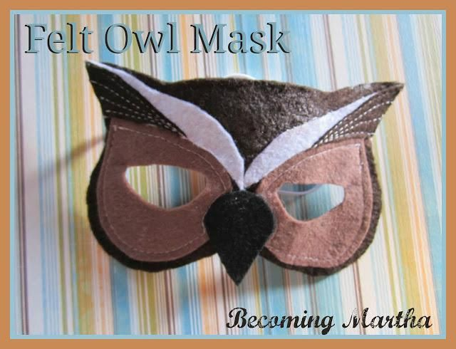 DIY Animal Costume : DIY Felt Owl Masks : DIY Halloween