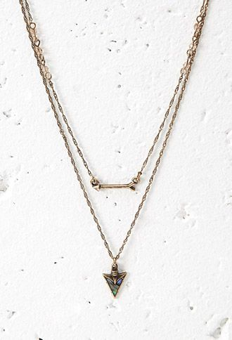 Arrow Charm Necklace | Forever 21 - 1002247988