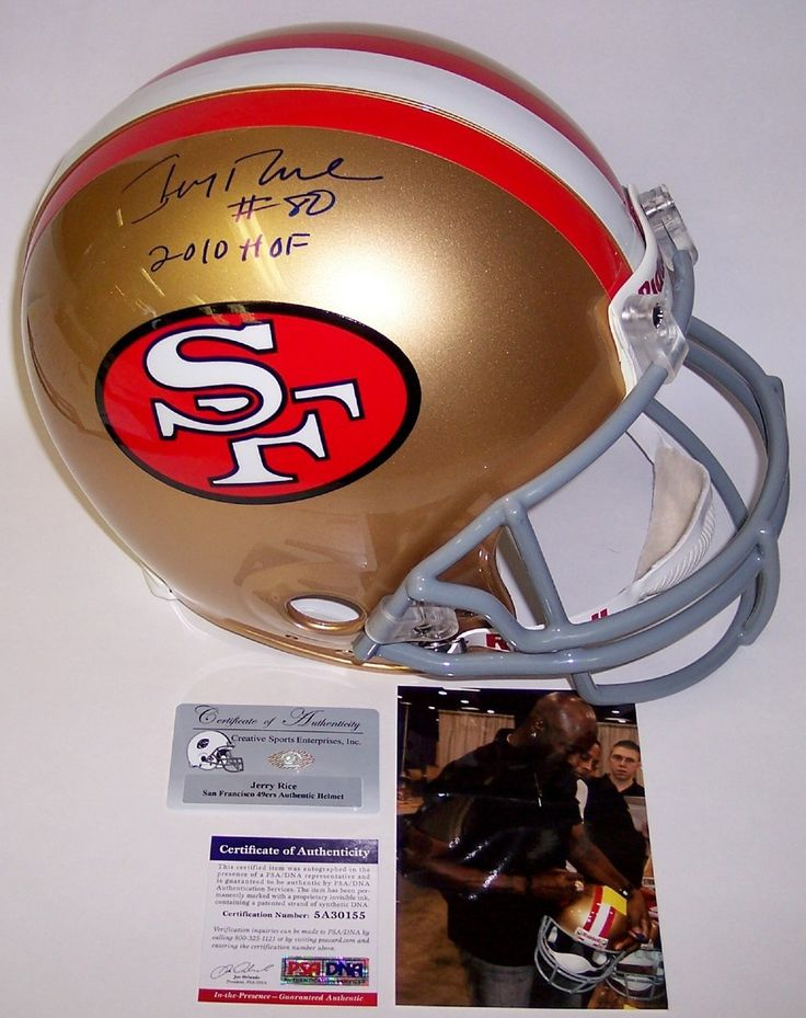Jerry rice autographed hand signed san francisco 49ers