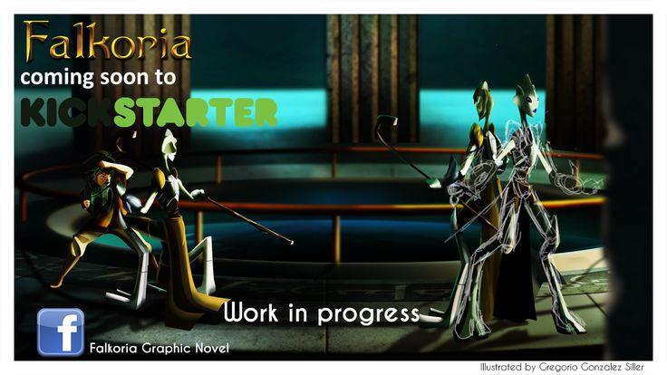 Work in progress for Falkoria Graphic Novel