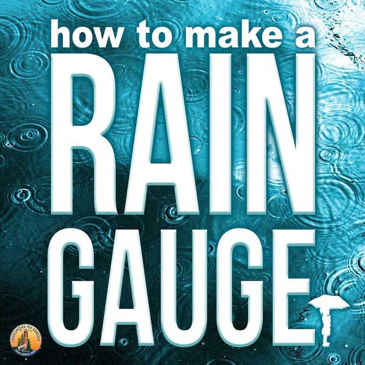 Even rainy days can be fun. Get crafty and make a rain gauge with your kids to count those drops as they fall from the sky!