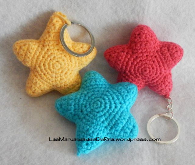 http://www.aliexpress.com/store/1687168 Llavero estrella ganchillo