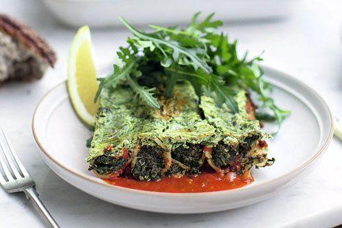 """Каннеллони рецепт с овощами  Джейми предлагает каннеллони рецепт """"зеленый"""" - вегетарианский, с сезонными овощами - для всей семьи."""