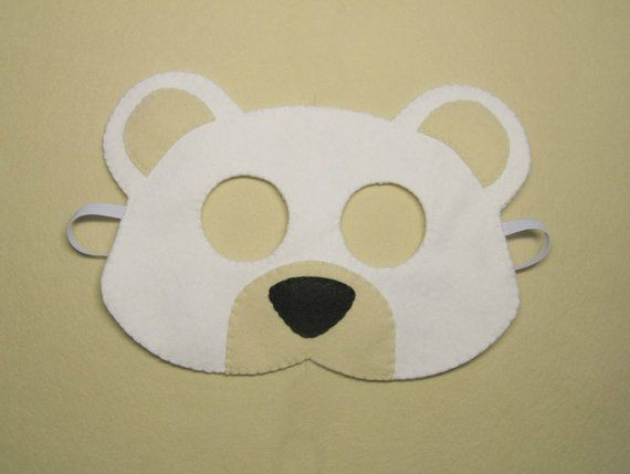 25 unique mask template ideas on pinterest diy mask diy white bear mask handmade ice polar bear for kids teens boys girls adults soft felt dress up play accessory photo props theatre roleplay pronofoot35fo Gallery