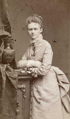 Harriet Backer. Fotografering 1880 ca Fotograf: Westendorph, Carl