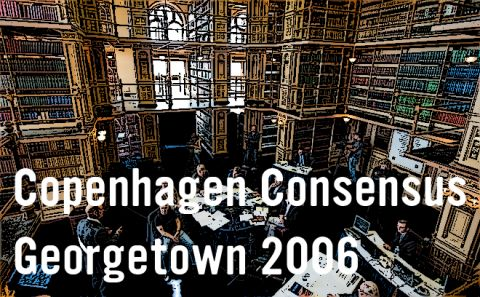Copenhagen Consensus 2006 followed a similar procedure to the first Copenhagen Consensus, drawing on the earlier exercise. Representatives had available to them the materials from the previous meeting, and over two days heard new presentations from acknowledged economists and UN experts for each of the ten challenge areas. For more info visit: copenhagenconsensus.com/copenhagen-consensus-georgetown
