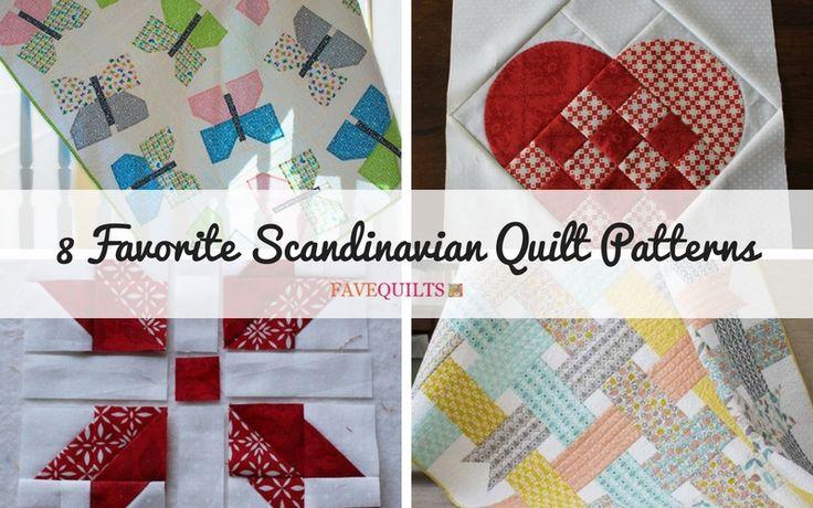 8 Favorite Scandinavian Quilt Patterns | Our top Scandinavian quilt patterns, just for you!