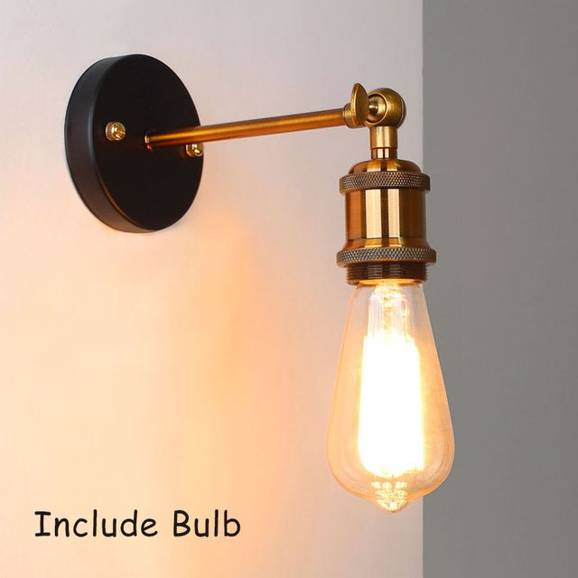 Wall Lamp Industrial Vintage Wall Sconce Loft Retro Light Fixtures Brass Wall Lights Indoor Bedroom B Brass Light Fixture Industrial Wall Lamp Brass Wall Light
