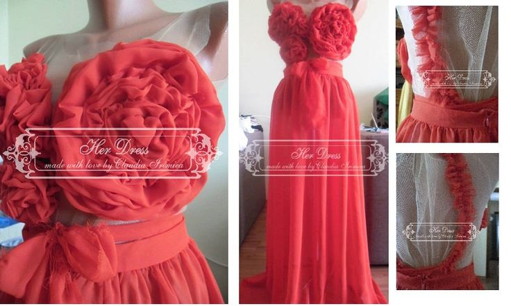 Beautiful Sexy Red Roses Chiffon Veil Tulle Sheer Blouse / Top by HerDressByClaudia on Etsy
